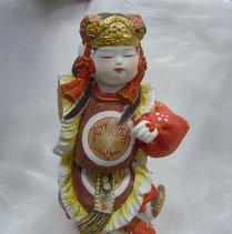 普段物・陶人形・右腕、裾割